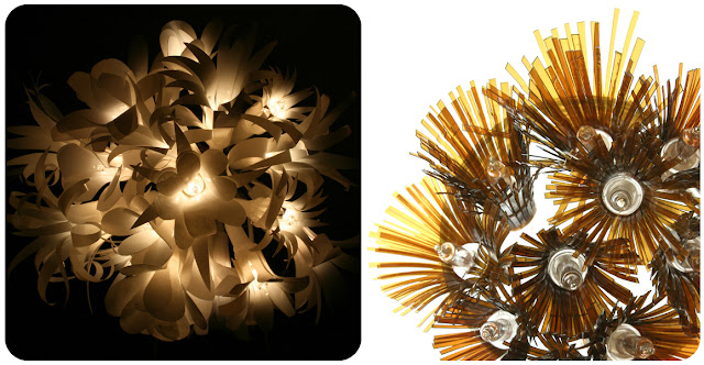 Light strands out of recycled materials