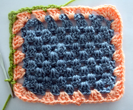 Granny stripe blanket - edging tutorial