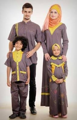 Desain Baju Muslim Keluarga Modis dan Elegan
