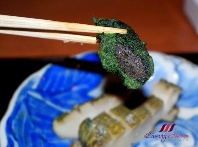 akasaka kitafuku charcoal grilled abalone liver awabi kimo