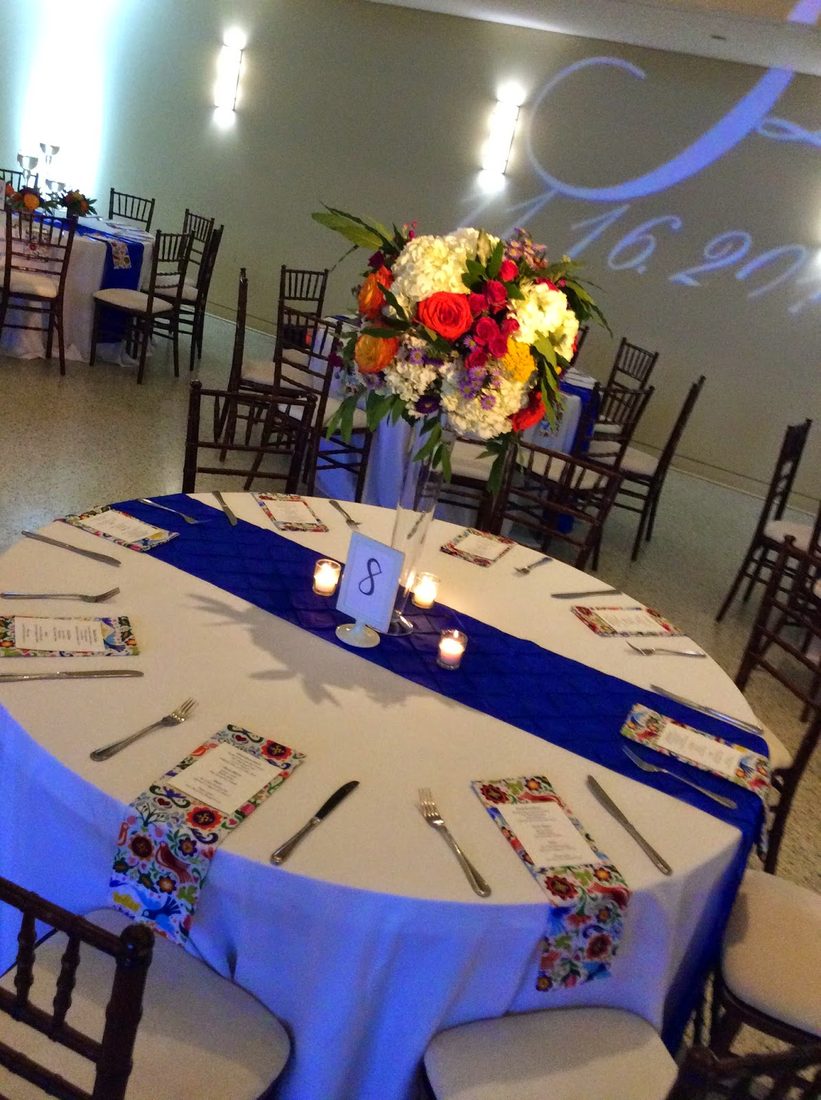 Blue Wedding, Latin Flair, Dallas Weddings, Texas Discovery Gardens, Culinary Art Catering