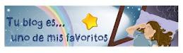 Premio Tu blog es uno de mis favoritos