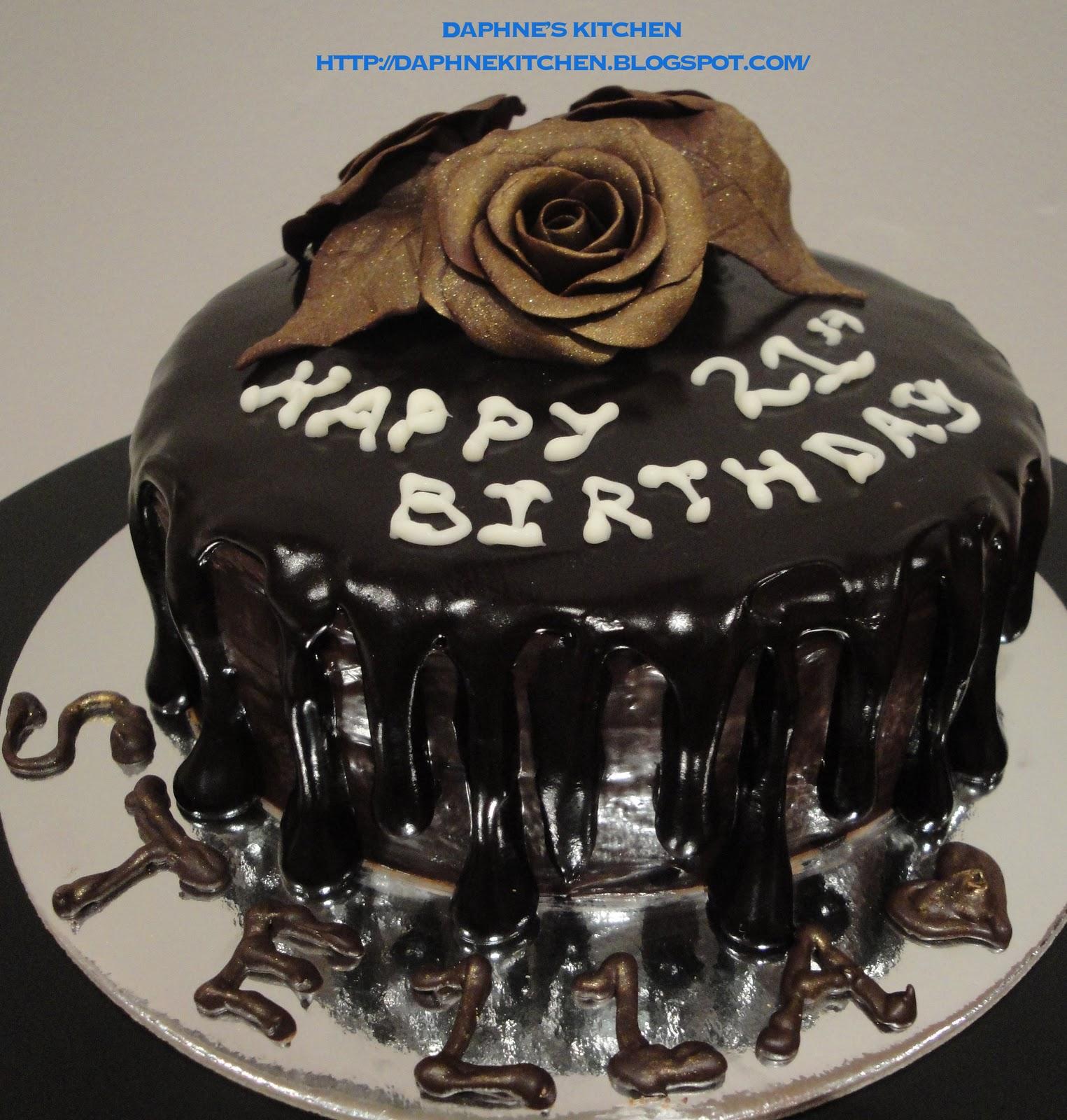 Daphnes Kitchen 65 Chocolate Mud Cake For Stellas 21st