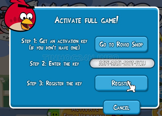Angry Birds Seasons 2.5.0 Enter Key
