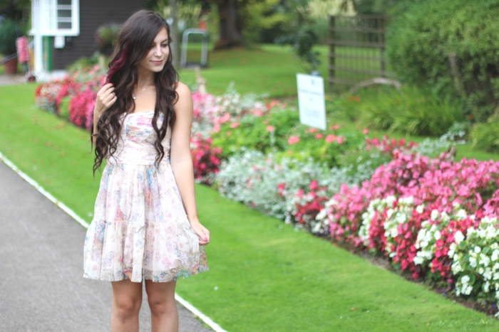 #BLFW Halo Hair Extensions Zara Princess Dress