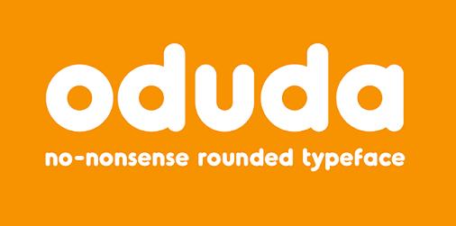 oduda round typeface
