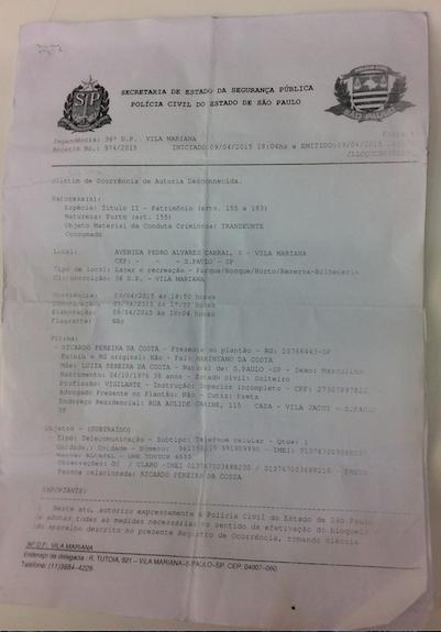 B.O SECRETARIA SEGURANCA PUBLICA