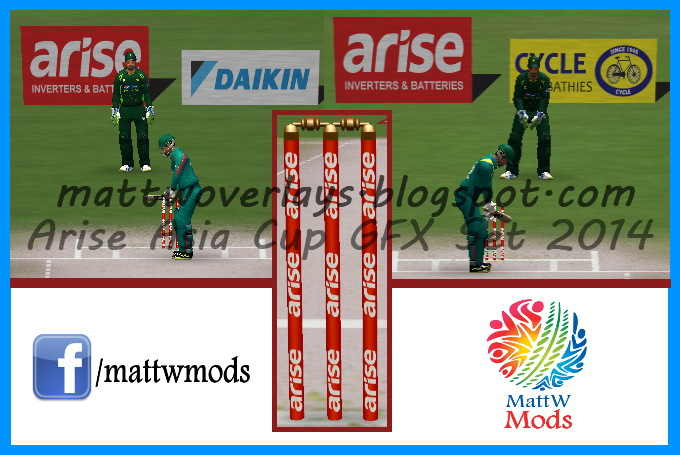 Asia Cup 2014 Graphic Set (GFX Set) for EA Cricket 07