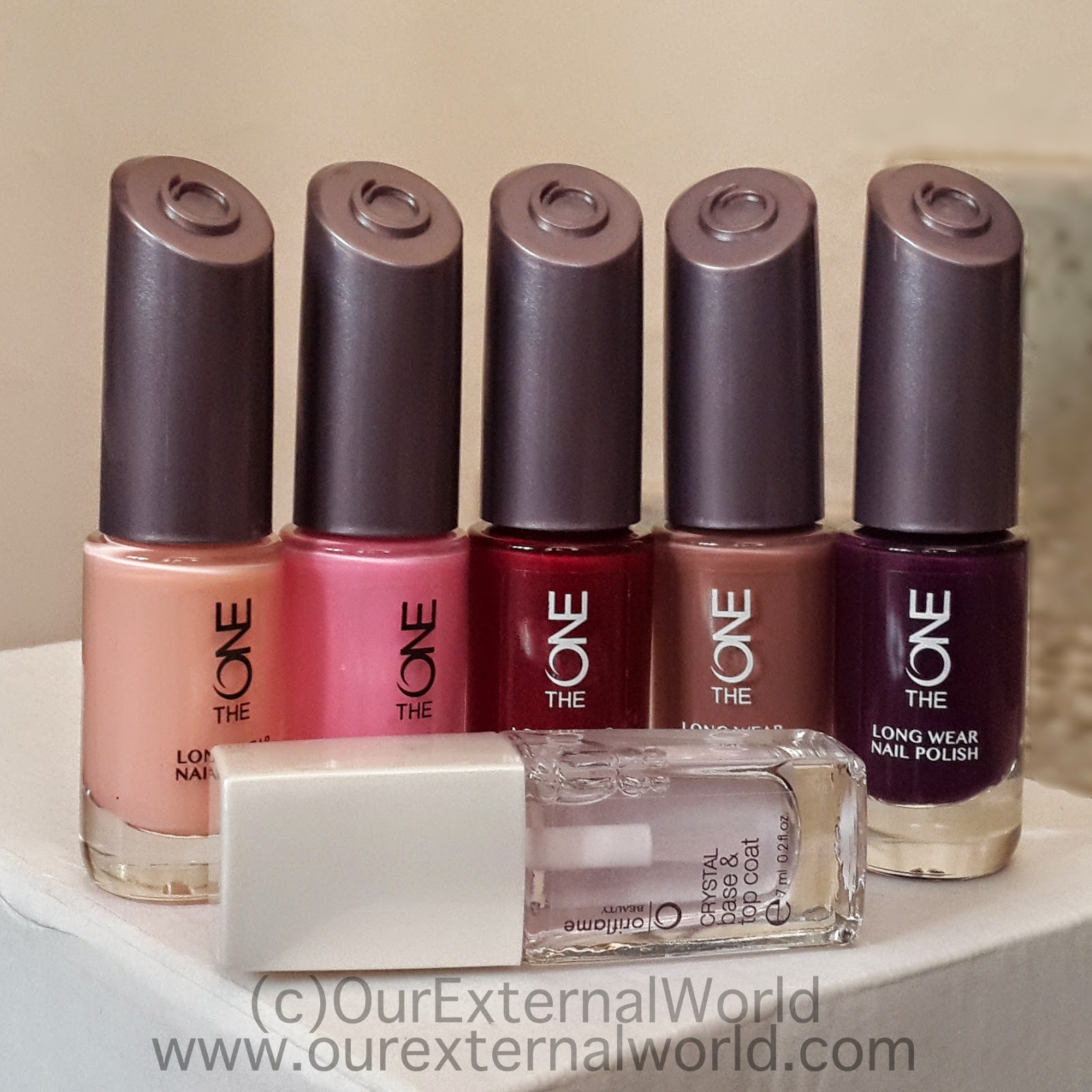 Oriflame TheOne Long Wear Nail Polish Swatches And Review