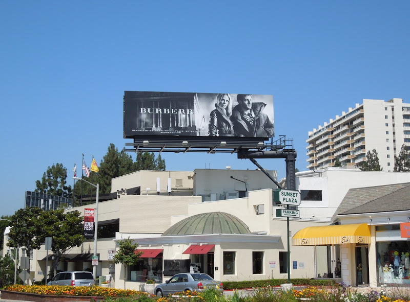 Burberry FW 2012 billboard Sunset Plaza