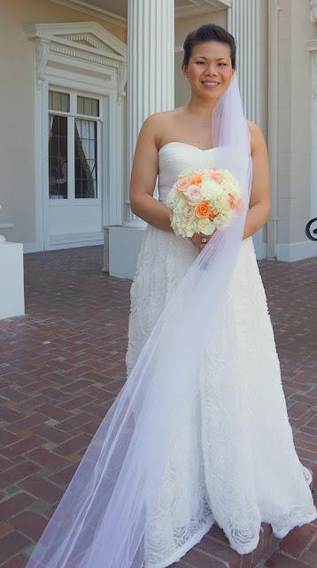 Bridal Bouquet Peach Pink Cream