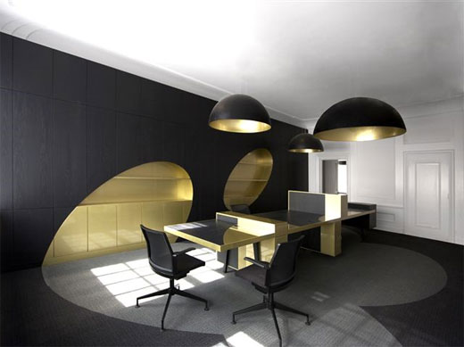 black office