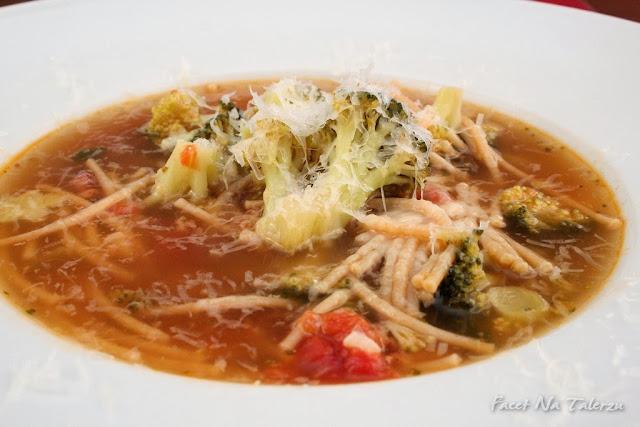 Zupa z brokułów - minestra di broccoli