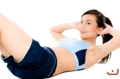 baiknya untuk memfokuskan olahraga yang menitikberatkan pada perut ...