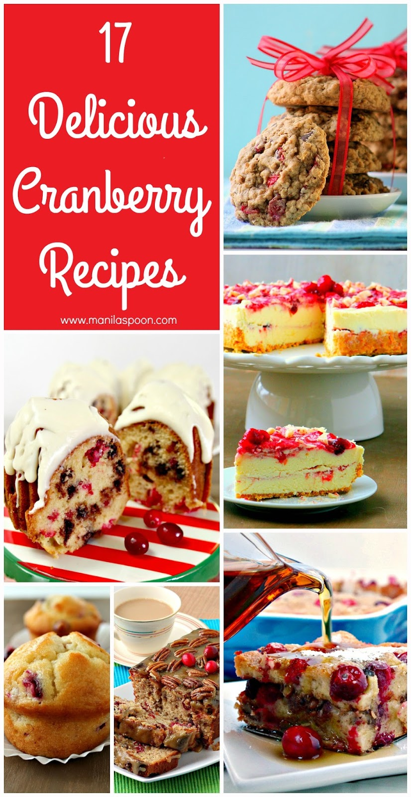 A collection of our tried and tested, delicious family favorite cranberry recipes. One stop shop for all your cranberry cravings!| manilaspoon.com