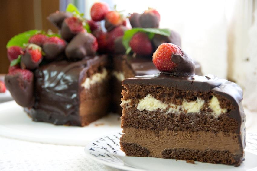 Una torta de chocolate (según Maru Botana una variación de la Sacher