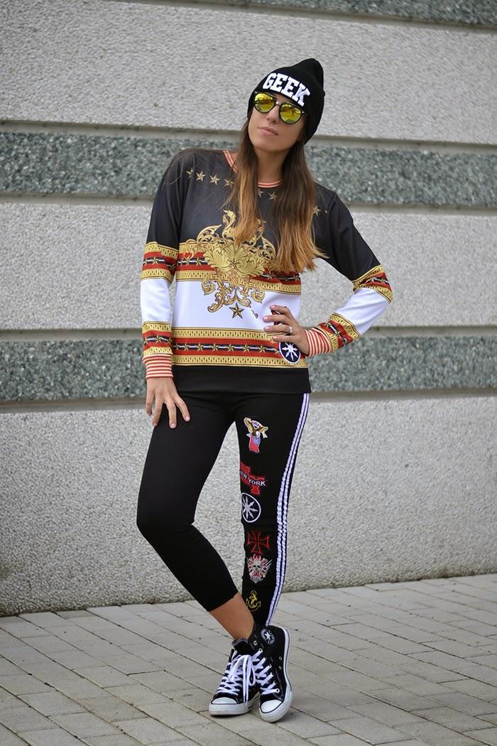 outfit streetstyle leggings felpa