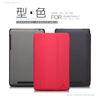 Nillkin Stand Flip Leather Case + LCD Guard For Asus Google Nexus 7 16GB 32GB
