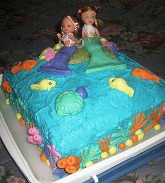 Little Mermaids Cake by Budgen