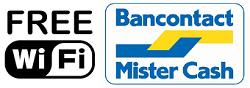 Free wifi / Bancontact beschikbaar