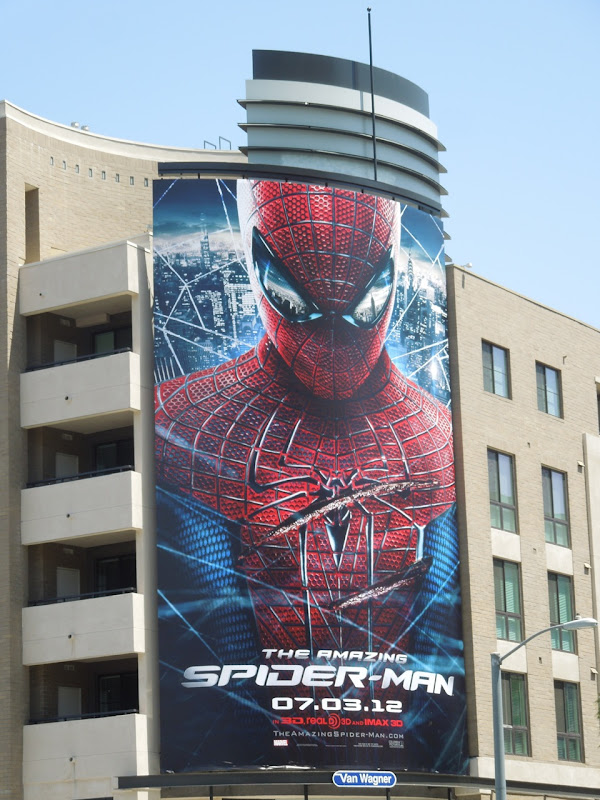 Giant Amazing Spiderman movie billboard