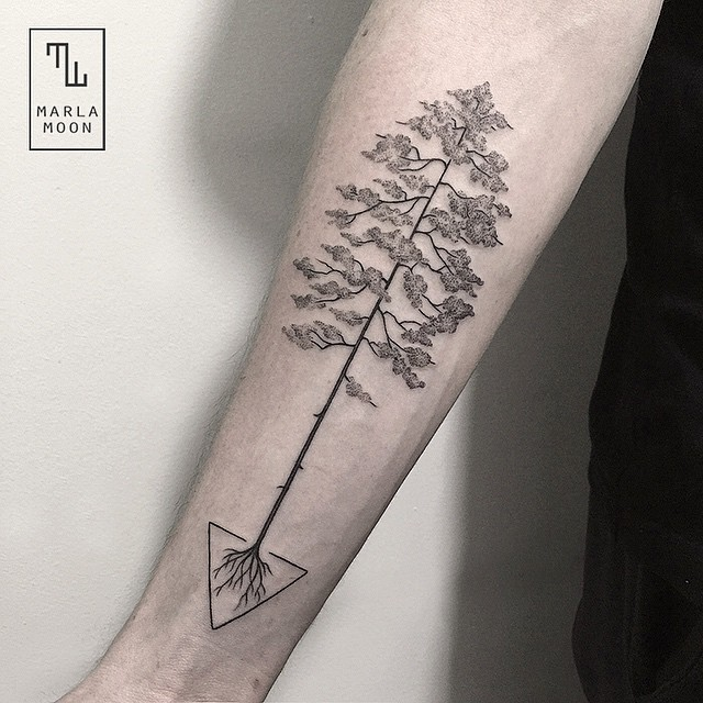02-Bonsai-Tree-Marla-Moon-Geometric-Shapes-with-Tattoo-Drawings-www-designstack-co