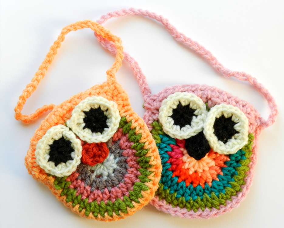 Crochet Owl Bag Pattern Free : Crochet Owl Purses