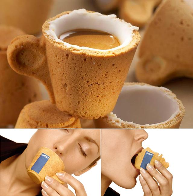chávena de café comestível