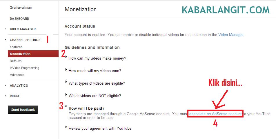 Adsense Dengan YouTube 3
