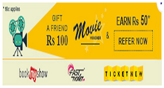 Payumoney Offer : Get Rs 100 Movie Voucher on Registering + Rs 50 Per Refer