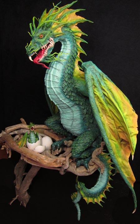 Как сделать дракон из папье-маше