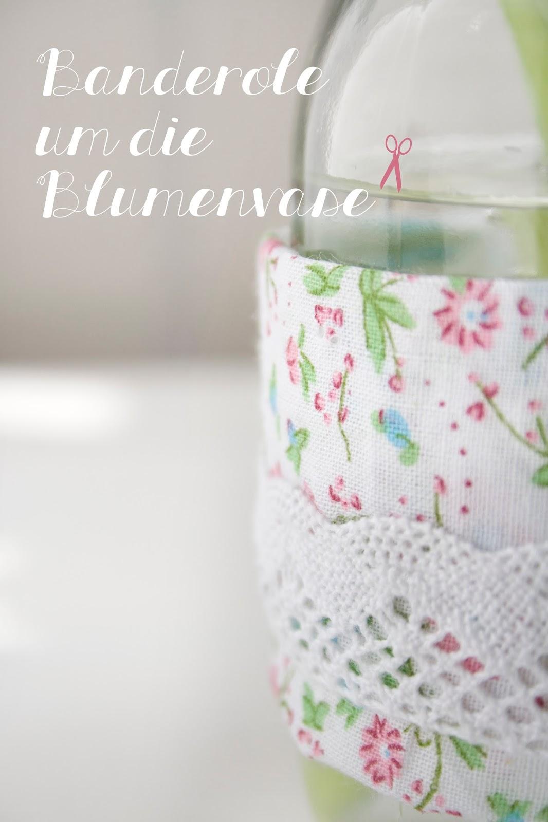 Vase mit DIY Banderole