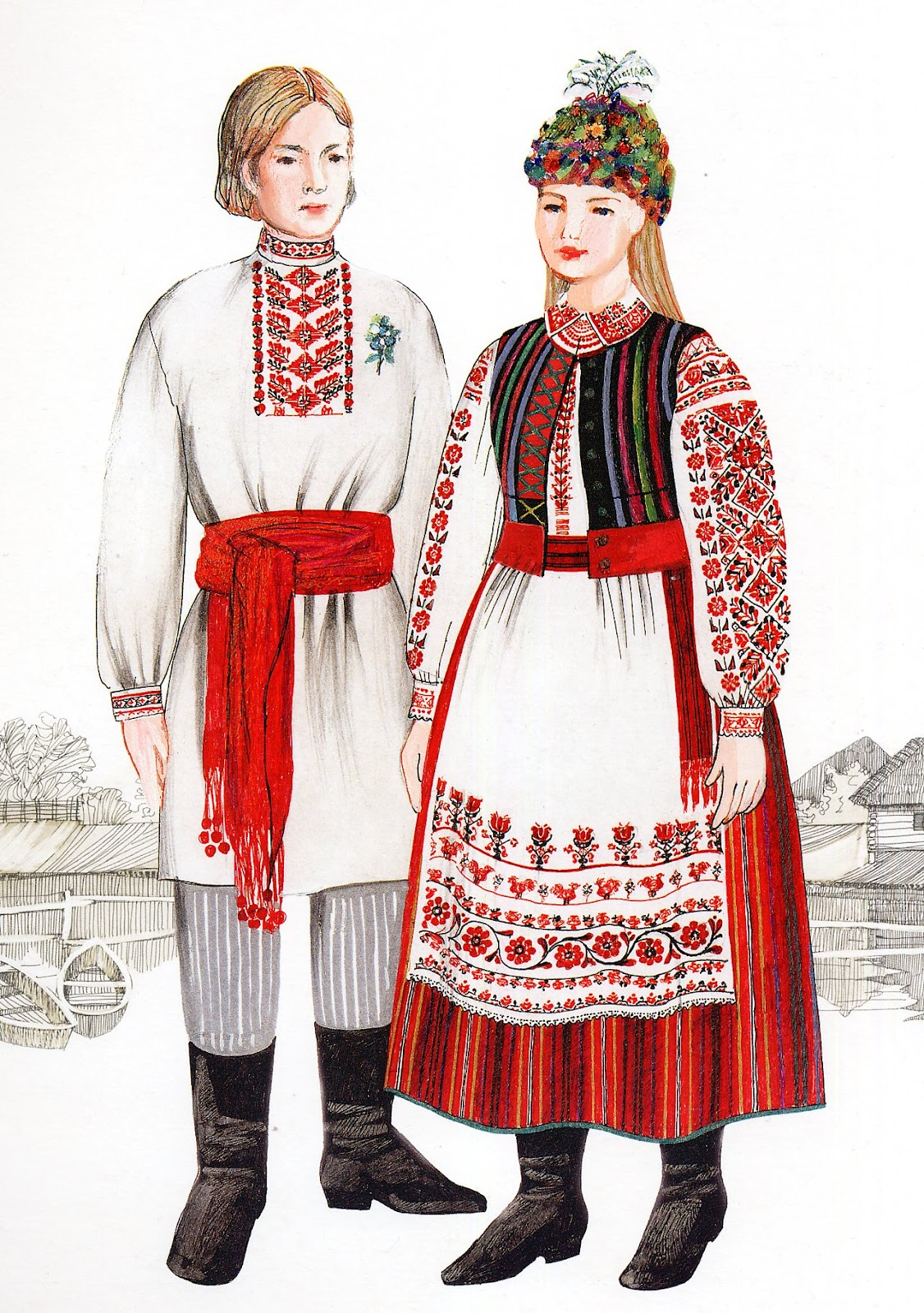 Costume Of West Or Volyn Polissia Ukraine