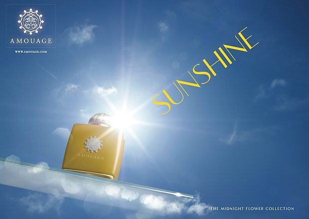 Reklama perfum Amouage Sunshine