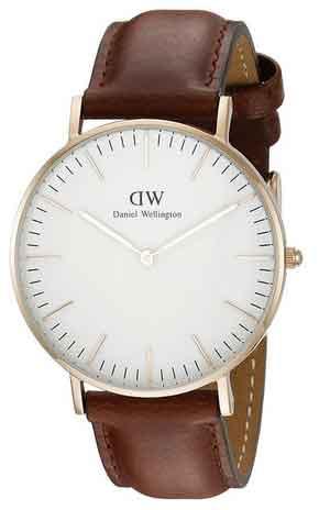 Daniel Wellington Damen-Armbanduhr Classic St.Mawes Lady Analog Quarz Leder 0507DW