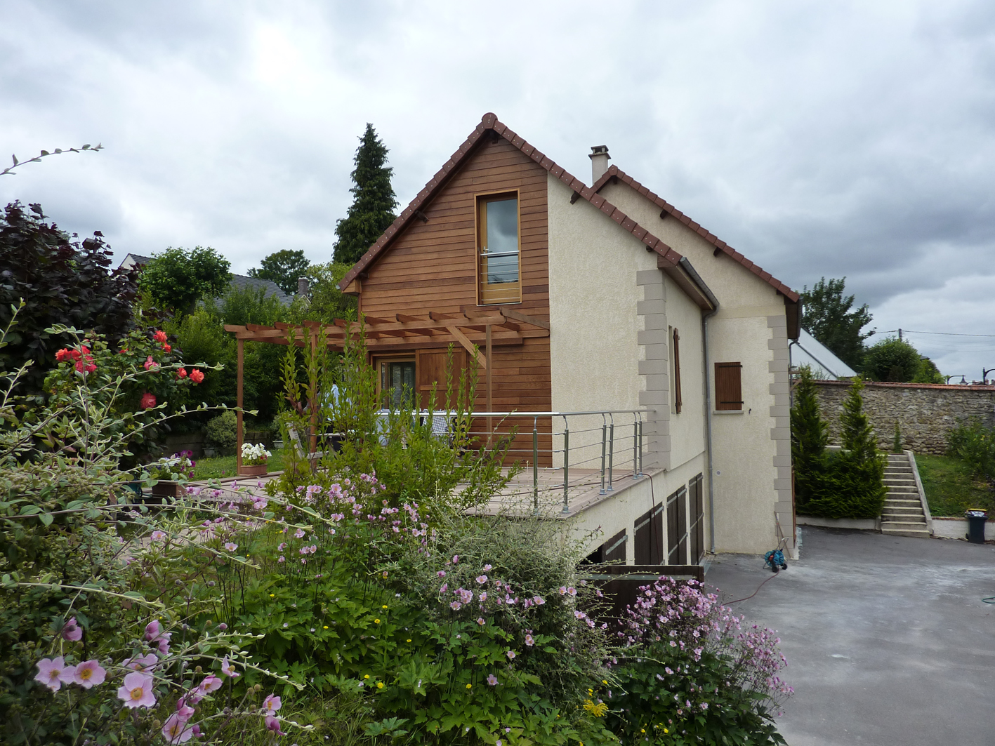 Maison bois yvelines architecte maison bois paris alsace for Architecte maison bois