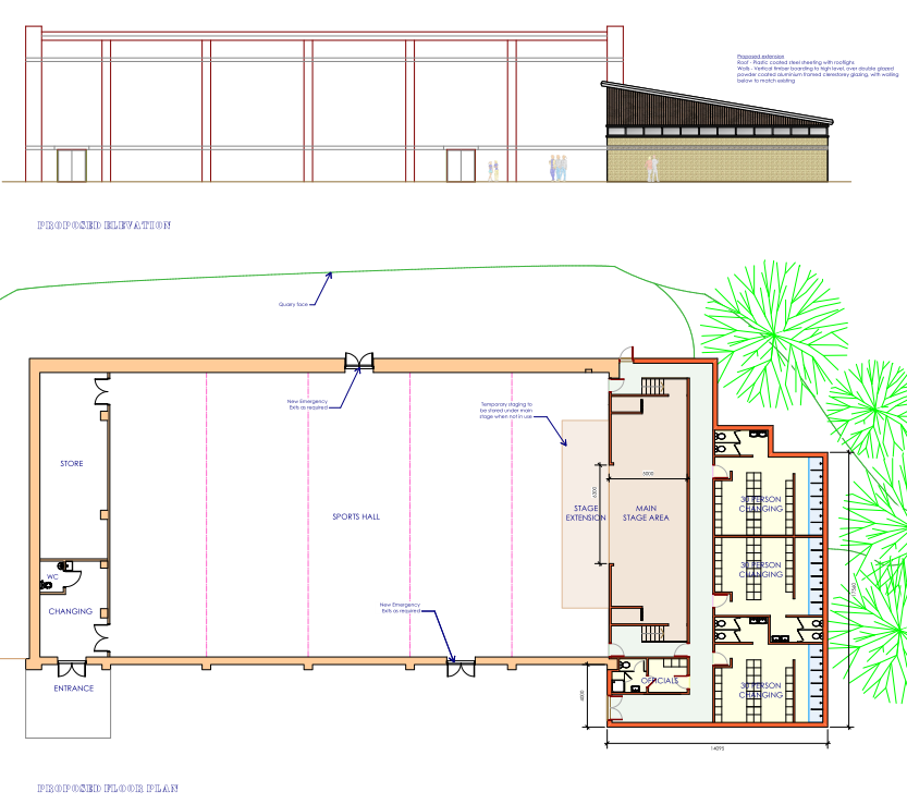 Applejon Design Changing Room Extension And Theatre Addition To School Sports Hall
