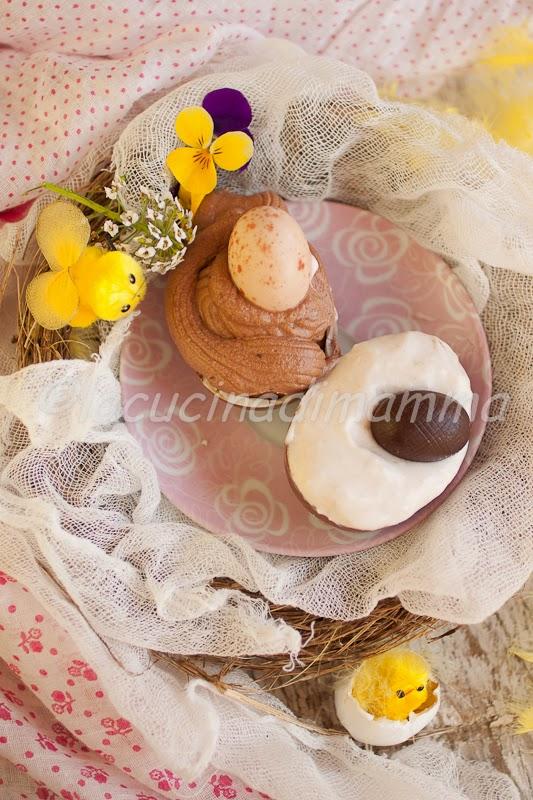 mousse al cioccolato e marshmallow fluff e mousse alla banana gluten free per un dessert perfetto per pasqua