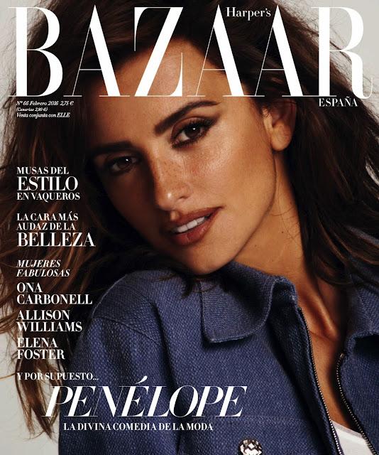 Actress, Model, @ Penelope Cruz - Harper's Bazaar Spain, February 2016