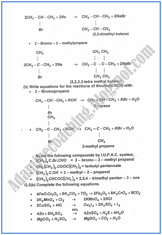Chemistry-Numericals-Solve-2013-past-year-paper-class-XII