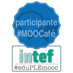 Mi emblema de participante en #MOOCafé