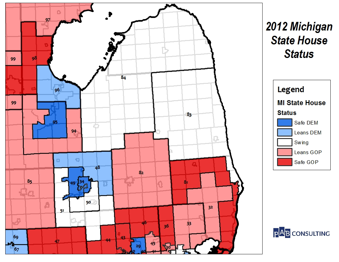 Below Are Some Relevant Maps Of The Baseline Status And Current Partisan Control Of Existing House Districts