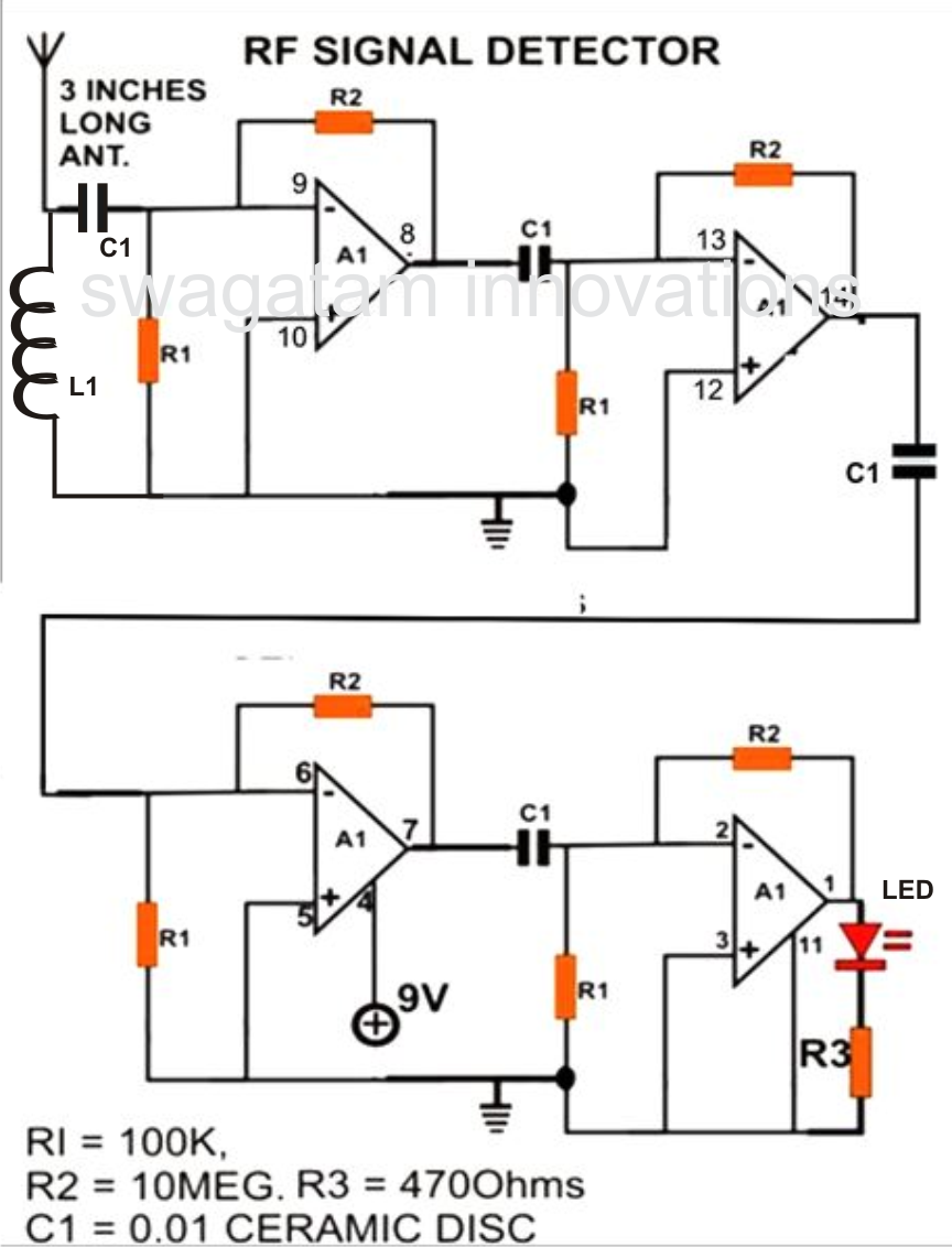 How To Make Cell Phone Rf Signal on simple alarm circuit diagram