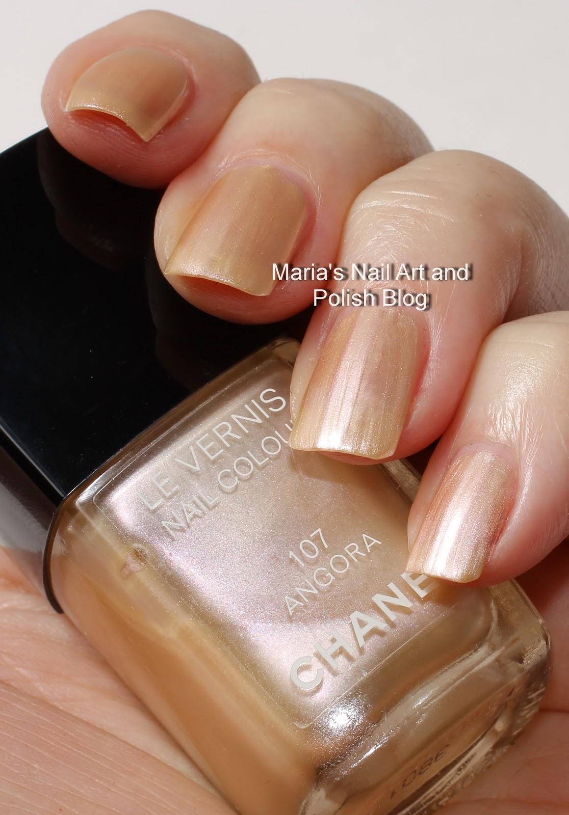Marias Nail Art and Polish Blog: Chanel Angora 107 swatches - vintage