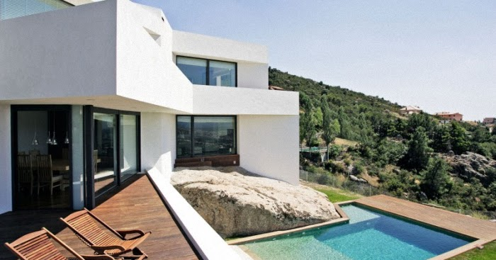 Dise o de interiores arquitectura casa en las monta as con vistas espectaculares en madrid - Casas espectaculares en espana ...