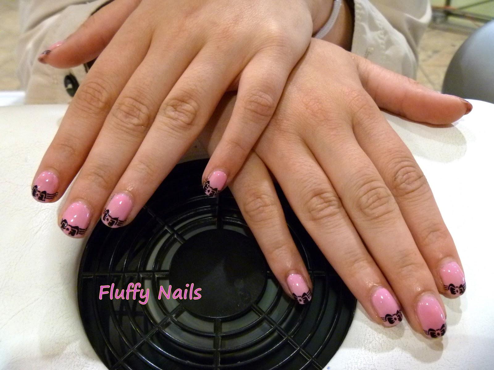 Fluffy nails nail art id es de mes clientes 2 - Nail art discret ...