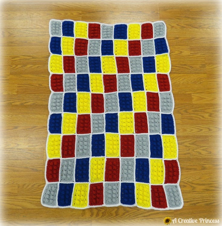 Crochet Lego Blanket : Creative Princess: Crocheted Lego Blanket
