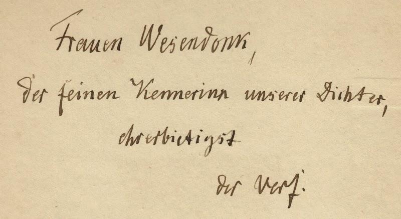 Widmung von Ludwig Ettmüller