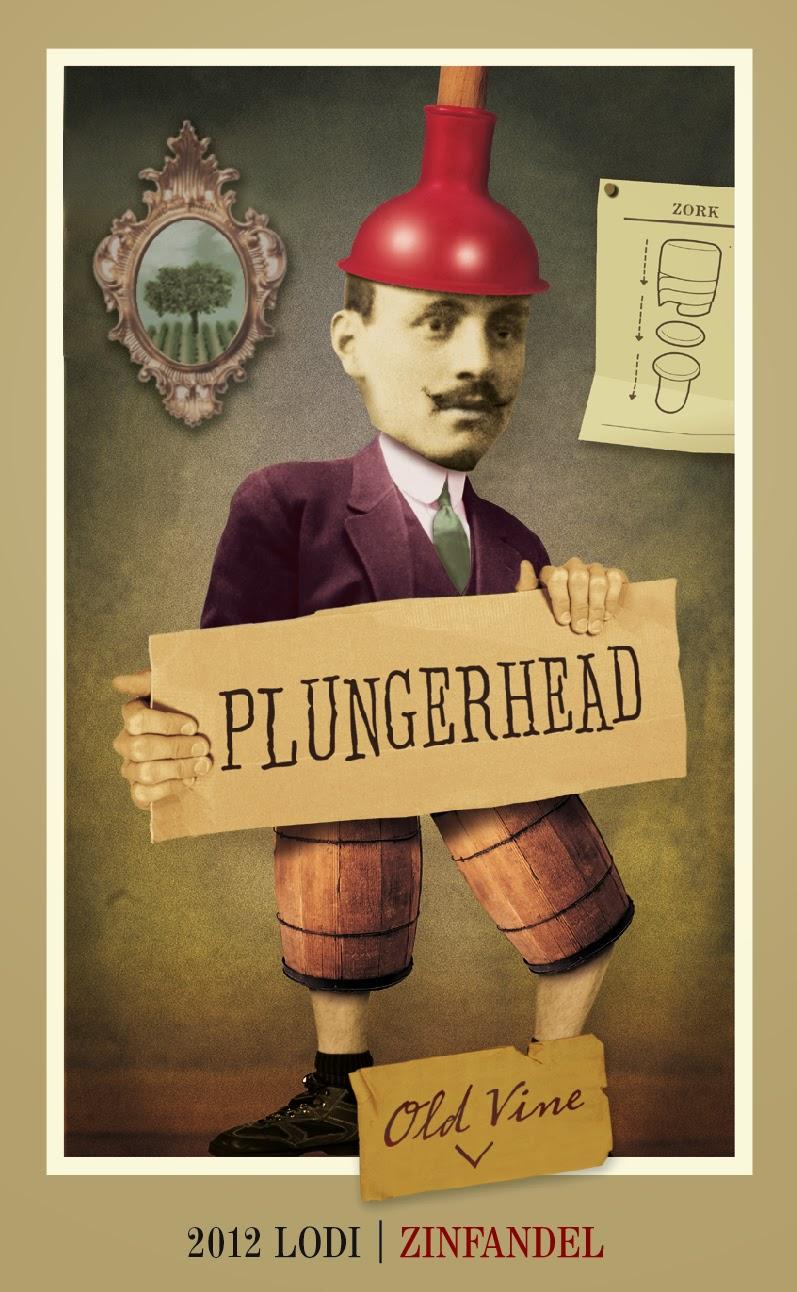 Plungerhead Old Vine Zinfandel label