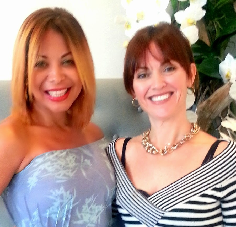 Lissette Rondon, President of Miami Fashion Spotlight and Meredith Texeira, Master Stylist at Danny Jelaca Salon in South Beach, Miami.